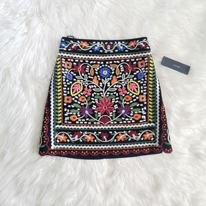 NWT Lulus Embroidered Mini Skirt!